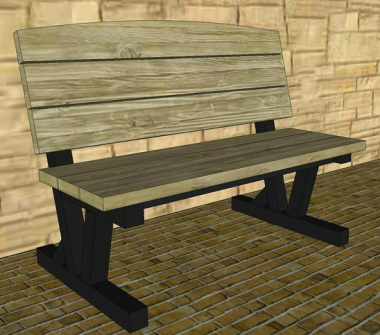 Commercial Quality Park Bench Plans or Pattern - Jacks Furniture Plans